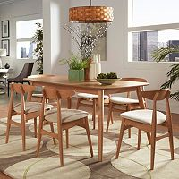 HomeVance Andersen Long Dining Table & Chair 7-piece Set