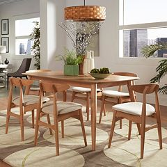 HomeVance Andersen Long Dining Table & Chair 7 pc Set