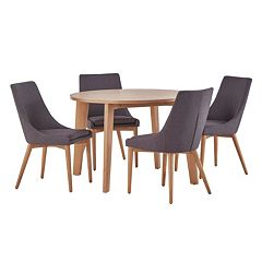 HomeVance Allegra Midcentury Dining Table & Chair 5 pc Set