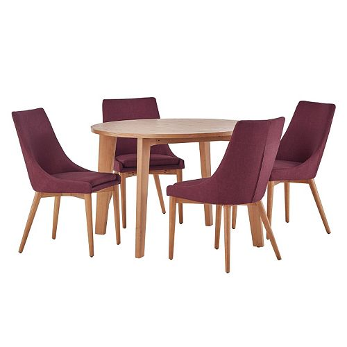 HomeVance Allegra Midcentury Dining Table & Chair 5-piece Set