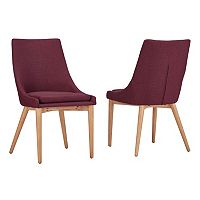 HomeVance Allegra Midcentury Dining Chair 2-piece Set