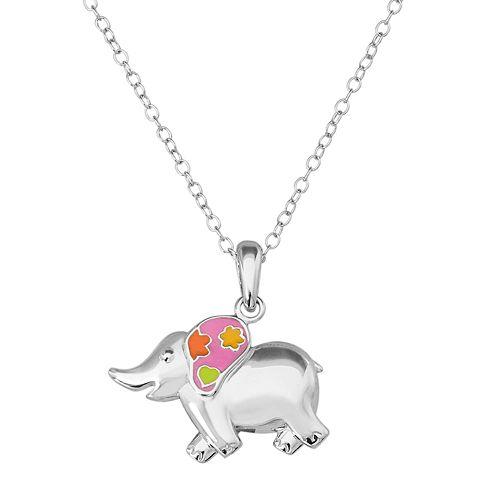 Hallmark Kids' Sterling Silver Elephant Pendant Necklace