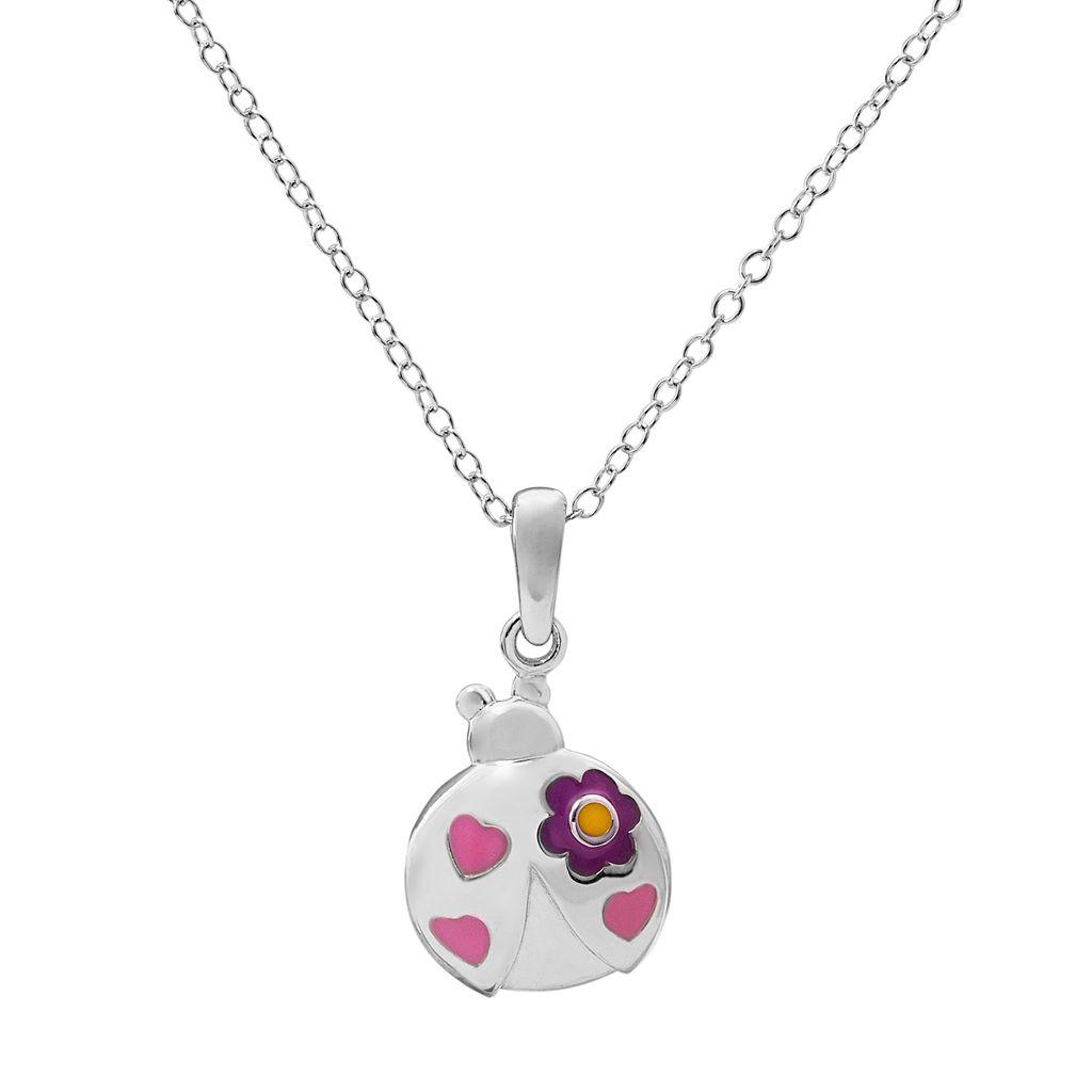 Hallmark Kids' Sterling Silver Ladybug Pendant Necklace