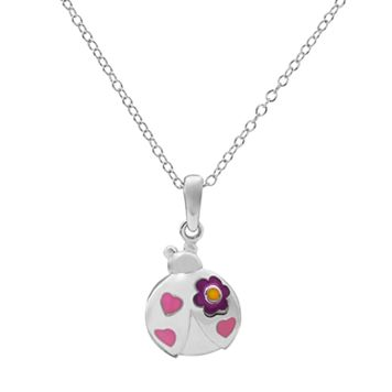 Hallmark Kids' Sterling Silver Ladybug Pendant Necklace