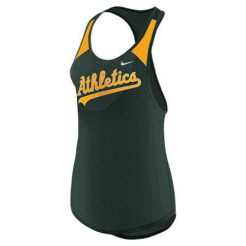 Women's Nike Oakland Athletics Wordmark Dri-FIT Tank Top