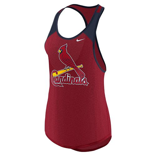 Women's Nike St. Louis Cardinals Wordmark Dri-FIT Tank Top