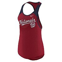 Women's Nike Washington Nationals Wordmark Dri-FIT Tank Top