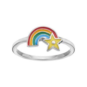 Hallmark Kids' Sterling Silver Rainbow Ring