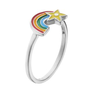 Hallmark Kids' Sterling Silver Rainbow Ring