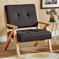 HomeVance Bobbie Midcentury Lounge Accent Chair