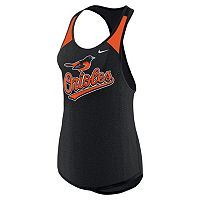 Women's Nike Baltimore Orioles Wordmark Dri-FIT Tank Top