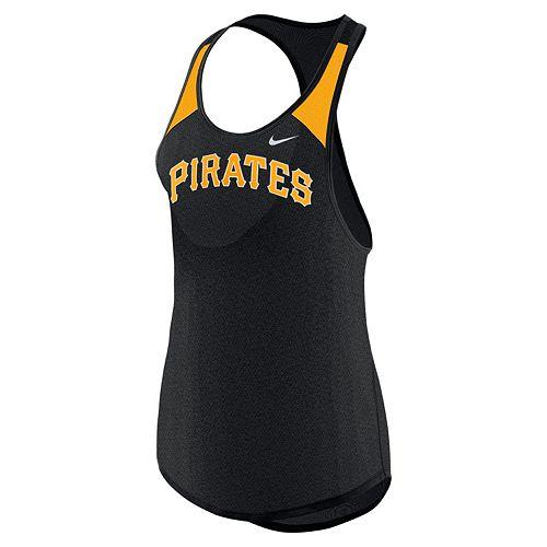 Women's Nike Pittsburgh Pirates Wordmark Dri-FIT Tank Top