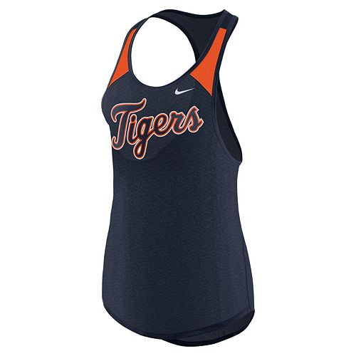 Women's Nike Detroit Tigers Wordmark Dri-FIT Tank Top