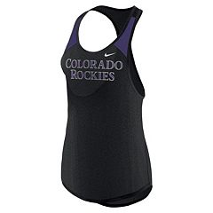 Women's Nike Colorado Rockies Wordmark Dri-FIT Tank Top