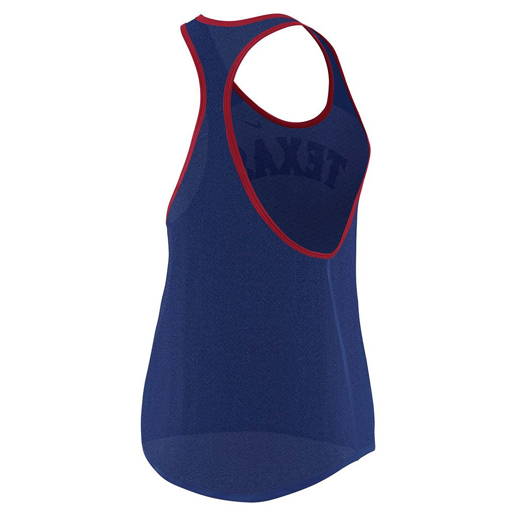Women's Nike Texas Rangers Wordmark Dri-FIT Tank Top