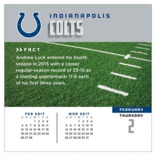 Indianapolis Colts 2017 Daily Boxed Calendar