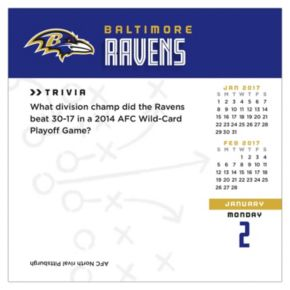 Baltimore Ravens 2017 Daily Boxed Calendar