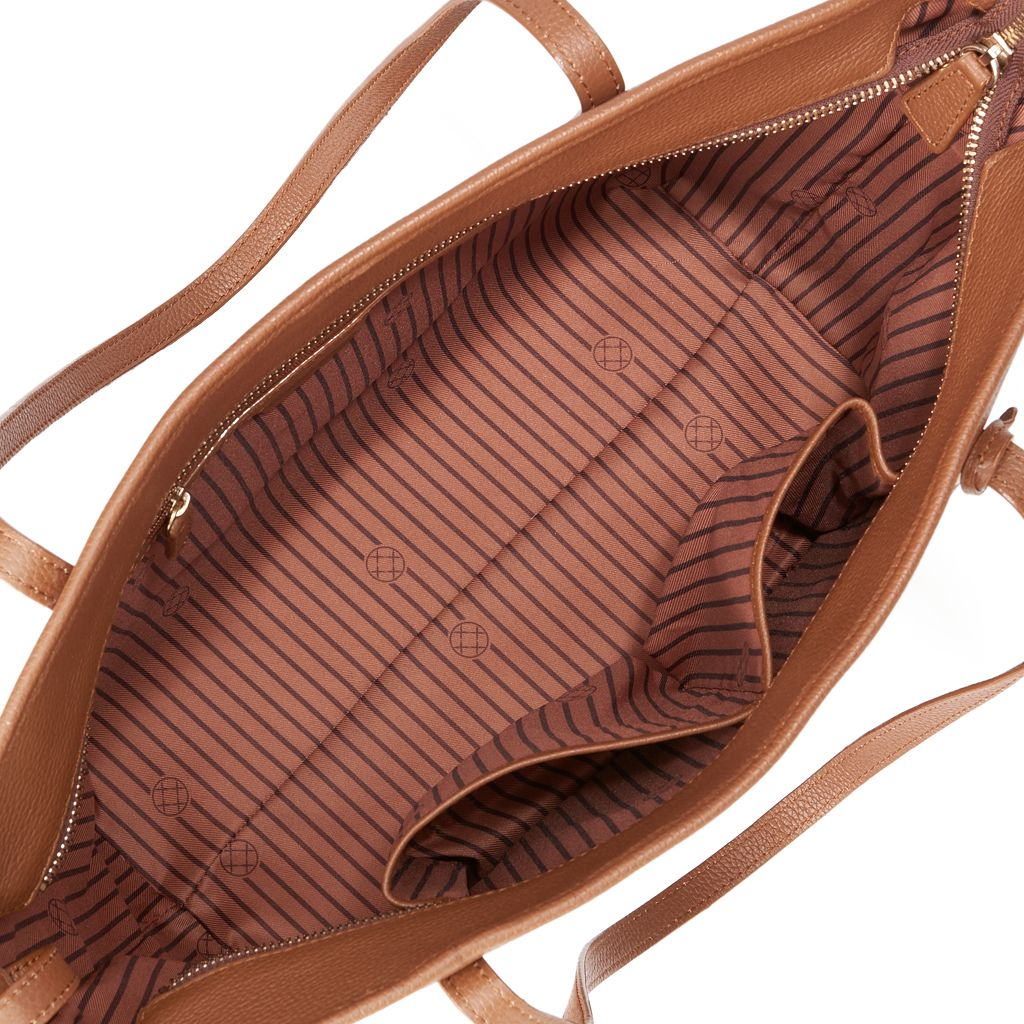 Dana Buchman Parker Leather Tote & Pouch