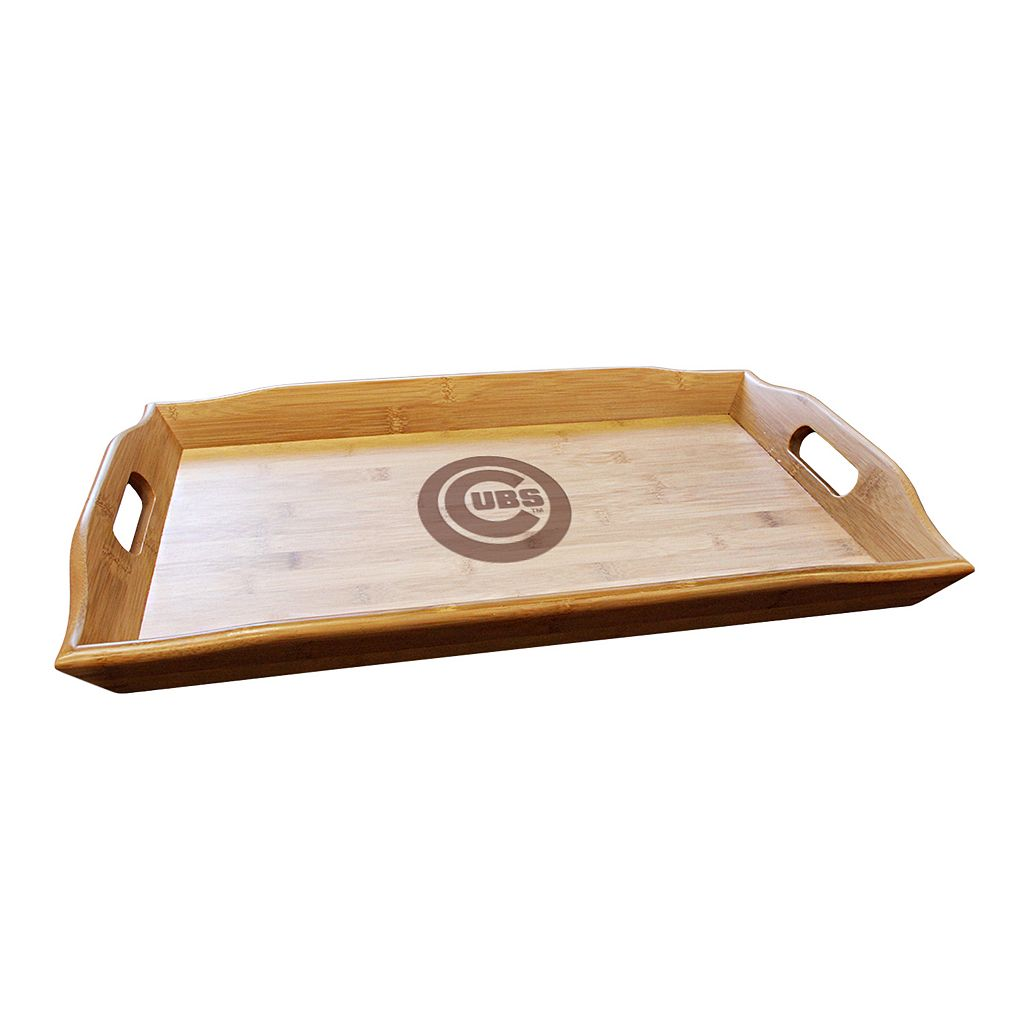 Chicago Cubs Bamboo Serving Tray