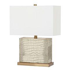 Safavieh Deliah Faux Alligator Table Lamp