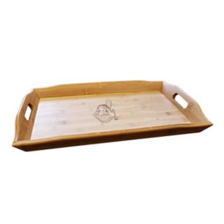 Cleveland Indians Bamboo Serving Tray