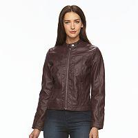 Women's Apt. 9¨ Faux-Leather Jacket