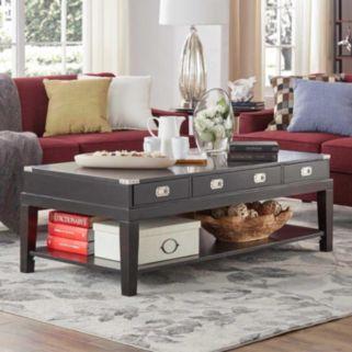 HomeVance Sanford 3-Drawer Coffee Table