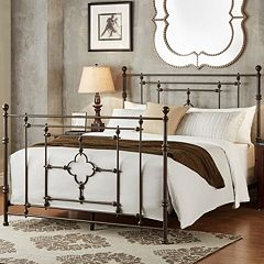 HomeVance Tinsley Quatrefoil Victorian Poster Bed