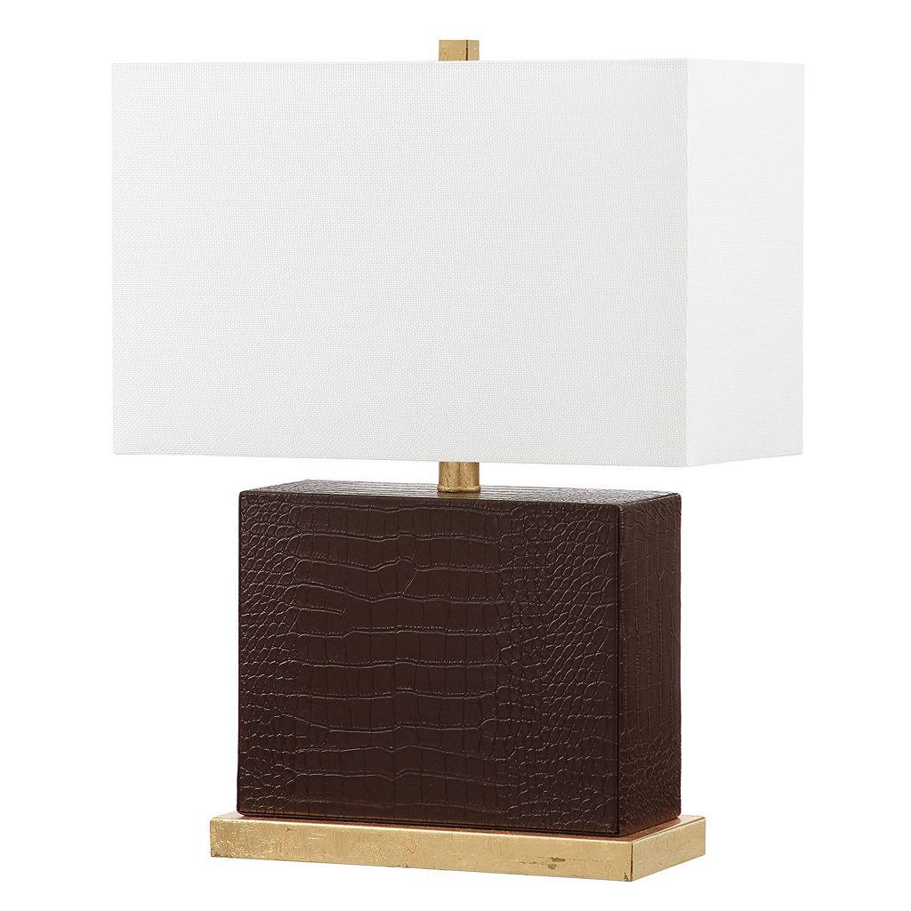 Safavieh Deliah Faux Crocodile Table Lamp