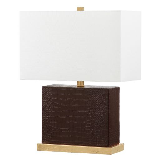 Safavieh Deliah Faux Crocodile Table Lamp