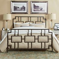 HomeVance Payton Geometric Metal Bed