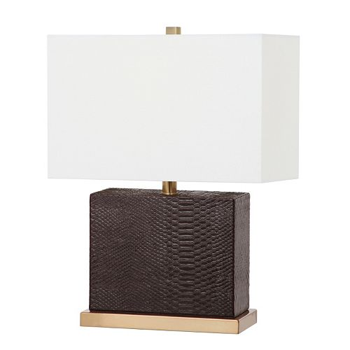 Safavieh Deliah Faux Snakeskin Table Lamp