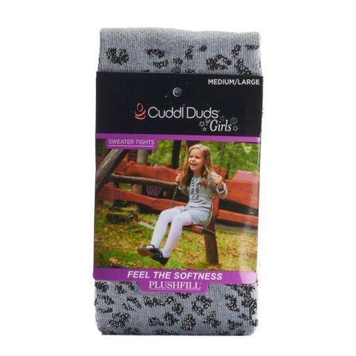 Girls 4-16 Cuddl Duds Sparkle Animal Print Sweater Tights