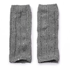 Girls 4-16 Cuddl Duds Cable Texture Sequin Leg Warmers