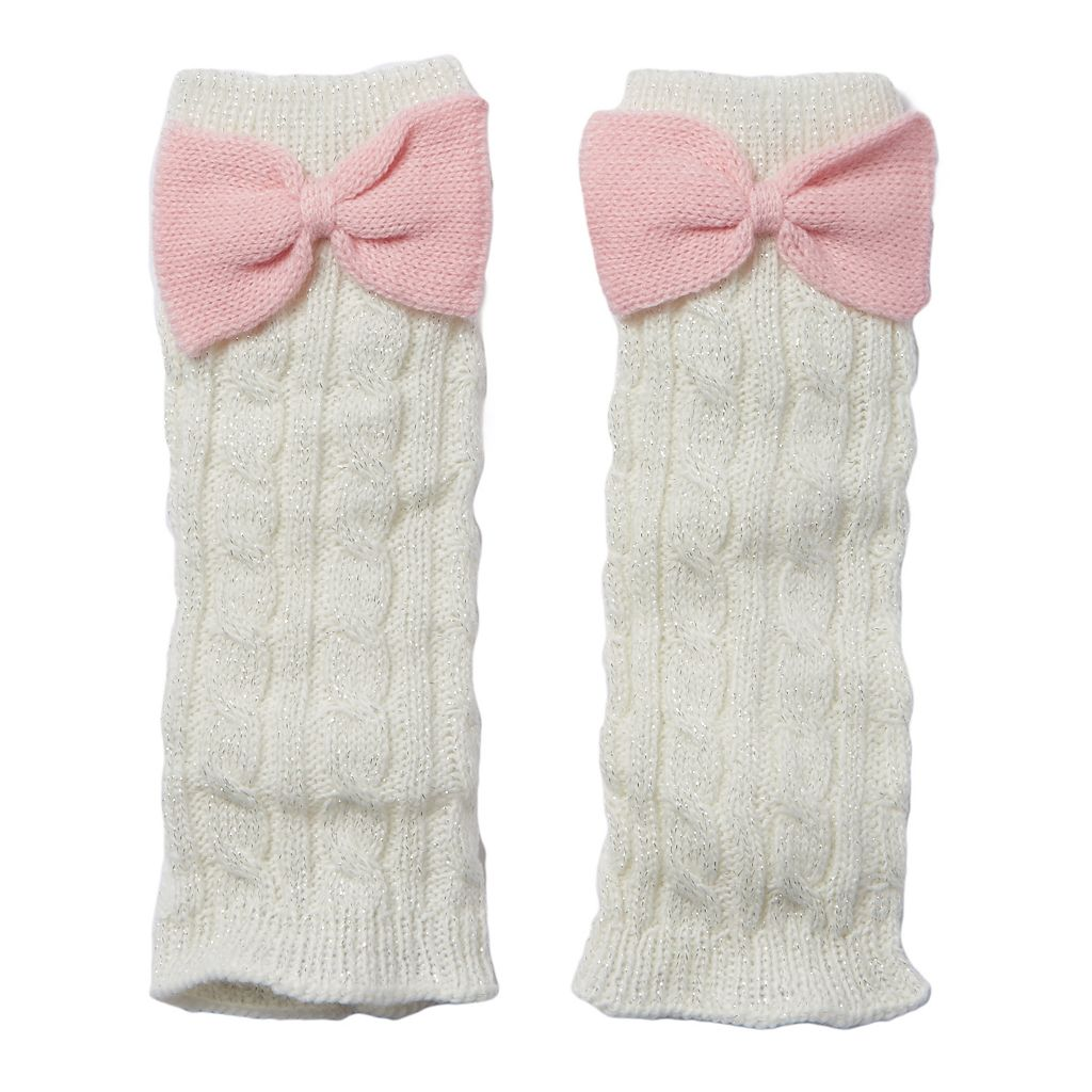 Girls 4-16 Cuddl Duds Sparkle Cable Leg Warmers