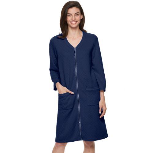 Women's Croft & Barrow® Knit Zip Duster Robe