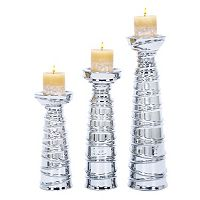 Ceramic Tapered Candle Holder 3-piece Set