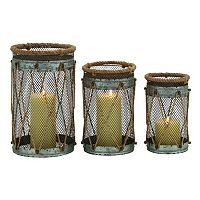 Coastal Mesh Candle Holder 3-piece Set
