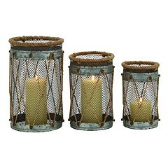 Coastal Mesh Candle Holder 3-piece Set