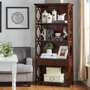 HomeVance Darby 4-Shelf Bookshelf