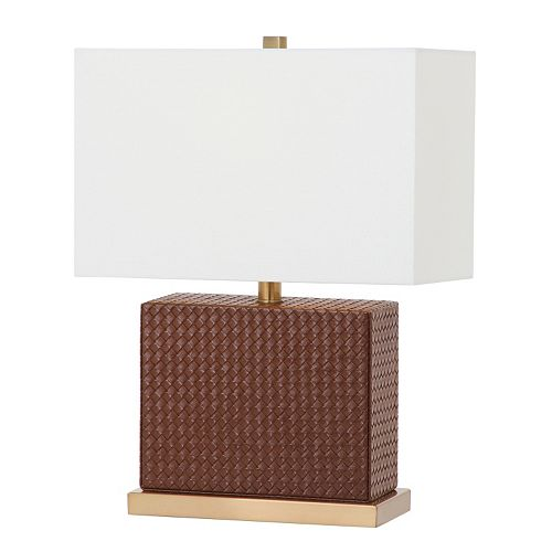 Safavieh Deliah Faux Leather Table Lamp