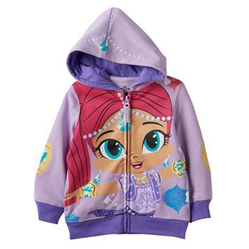 Toddler Girl Shimmer & Shine Glitter Shimmer Zip-Up Hoodie