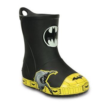 Crocs Bump It DC Comics Batman Kids' Waterproof Rain Boots