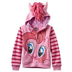 Girls 4-6x My Little Pony Pinkie Pie Glitter Hoodie