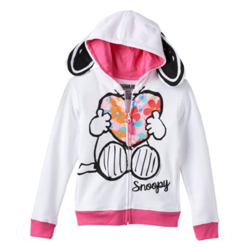 Girls 4-6x Peanuts Snoopy Hoodie