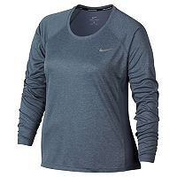 Plus Size Nike Miler Dri-FIT Long Sleeve Top