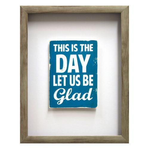Let Us Be Glad Framed Wall Art