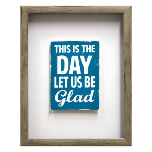 """Let Us Be Glad"" Framed Wall Art"