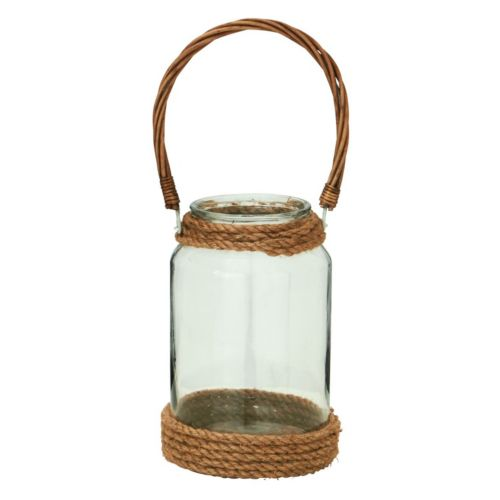 Touch of Glass Jute Rope Candle Lantern