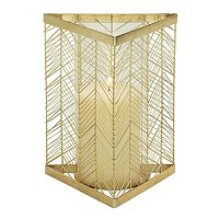 Modern Reflections Triangular Feather Candle Holder
